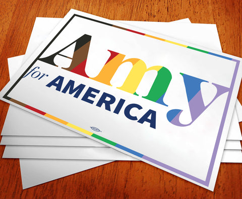 Amy Klobuchar for America 2020 Pride Rally Sign