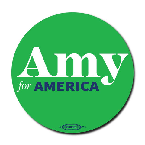 Amy Klobuchar for America 2020 Green Campaign Button 5-Pack