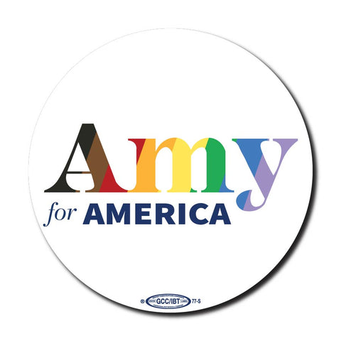 Amy Klobuchar for America 2020 Pride Campaign Button 5-Pack
