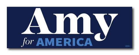 Amy Klobuchar for America 2020 Navy Bumper Sticker