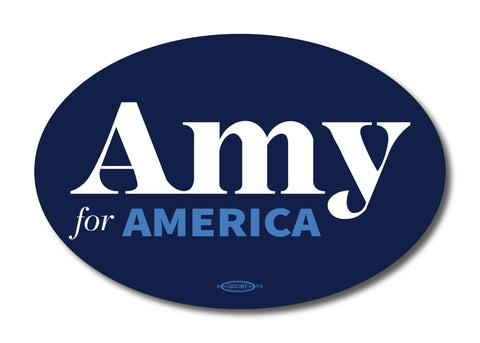Amy Klobuchar for America 2020 Navy Oval Bumper Sticker