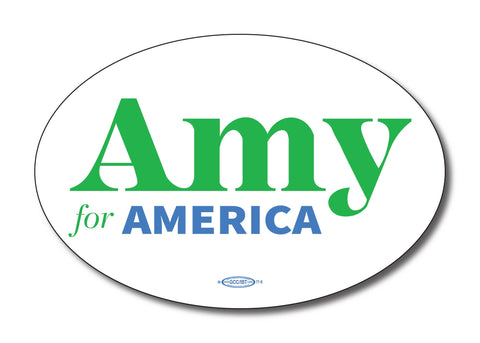 Amy Klobuchar for America 2020 Oval Bumper Sticker