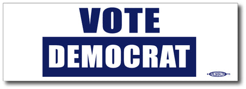 Vote Democratic Magnetic Bumper Sticker