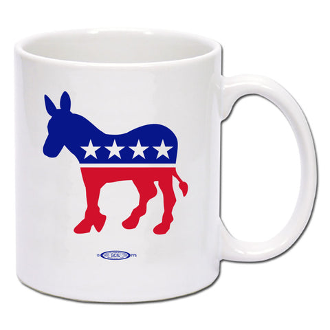 Democrat - Red, White & Blue Donkey Coffee Mug