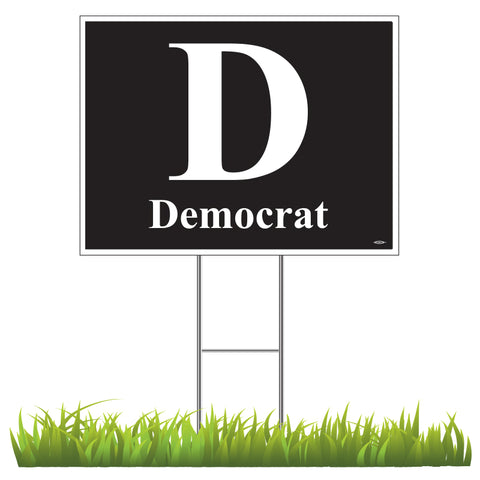 Democratic Yard Sign