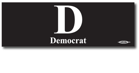 Democratic Magnetic Bumper Sticker