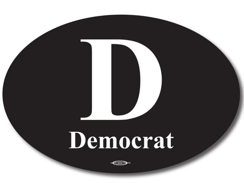 Democratic Oval Bumper Sticker