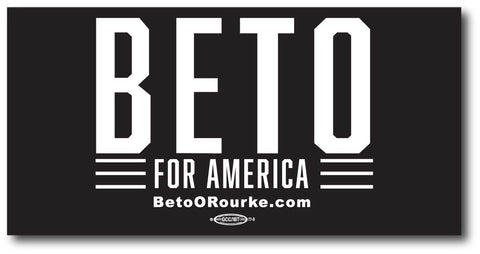 Beto for America Black Magnetic Bumper Sticker