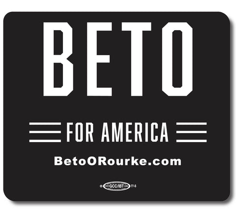 Beto for America Black Mouse Pad