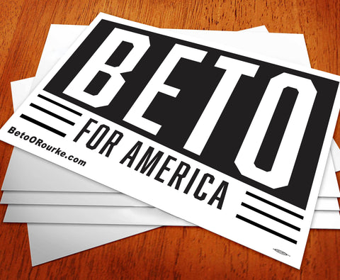 Beto for America Rally Sign