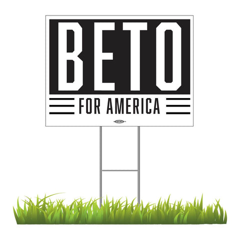 "Beto for America Yard Sign 24"" x 18"""