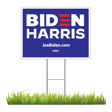 "Biden Harris 2020 Blue Yard Sign 24"" x 18"""