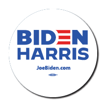 Biden Harris 2020 White Campaign Button