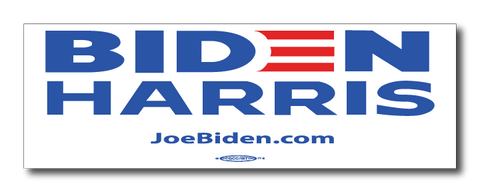 Biden Harris 2020 White Magnetic Bumper Sticker