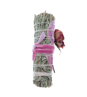 Blue Sage + Rose Smudge Bundle