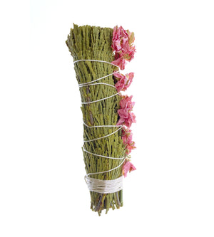 Cedar + Pink Larkspur Smudge Bundle