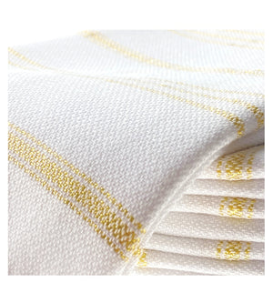 Organic Turkish Peshtemal Hand Towel Metallic Gold Stripes