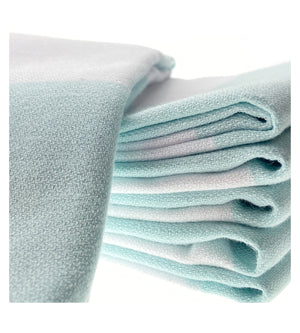 Organic Turkish Peshtemal Hand Towel Mint Stripes