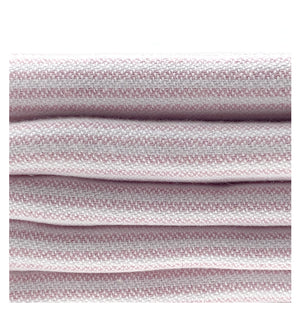 Organic Turkish Peshtemal Hand Towel Pink Pin Stripes