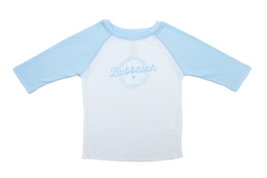 Bubbalah 2T Sky Blue Baseball Shirt