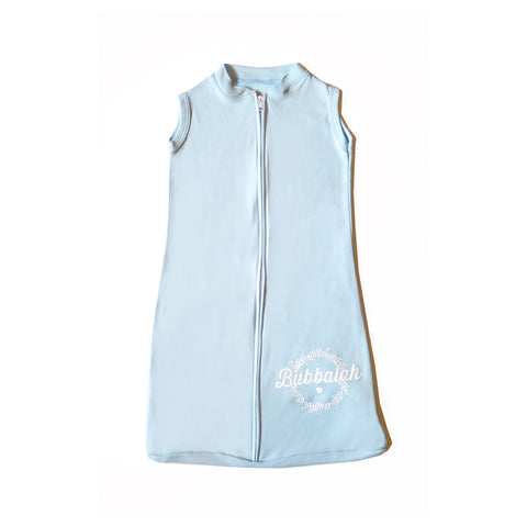 Blue baby infant sac with zipper