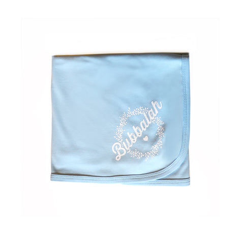 Bubbalah Sky Blue Blanket