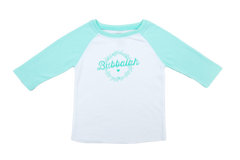 Bubbalah Mint Green 2T Baseball Shirt