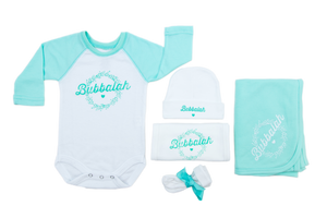 "Bubbalah Mint Green Raglan ""Half & Half"" Set"
