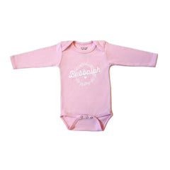 Bubbalah Rose Long-Sleeved Solid Pink Onesie