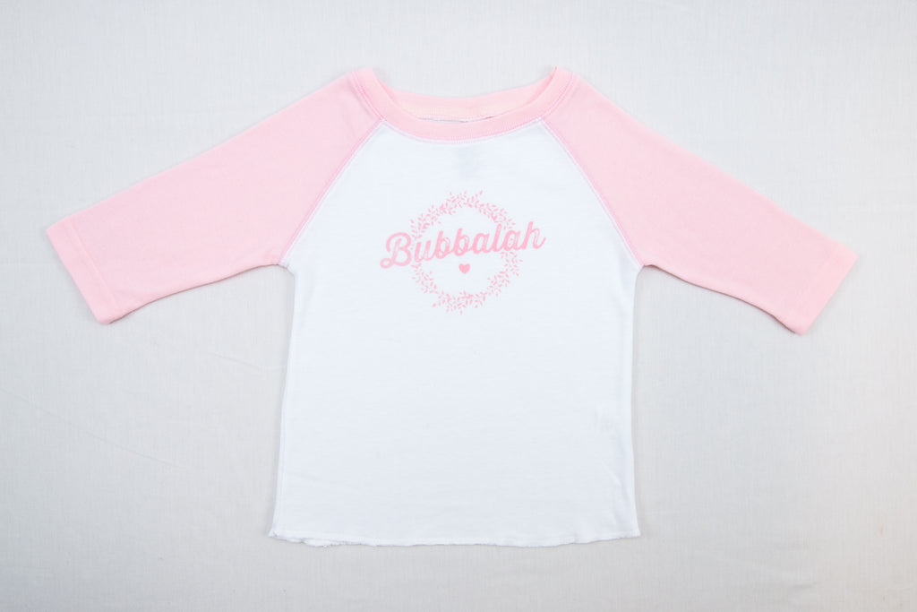 "NEW!!! ""Bubbalah"" Rose Petal 2T Baseball Shirt"