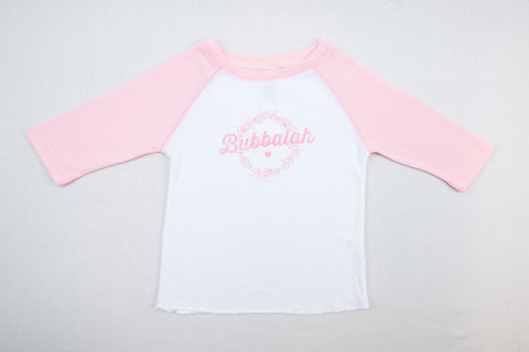 Bubbalah Rose Petal 2T Baseball Shirt