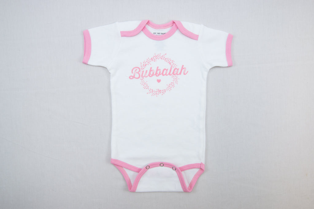 NEW!!! Bubbalah Rose Petal Ringer Onesie
