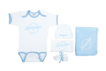 "NEW!! Bubbalah Sky Blue Ringer ""Baby Basics"" Set"