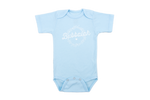 "NEW!! ""Bubbalah"" Solid Sky Blue Short Sleeve Onesie"