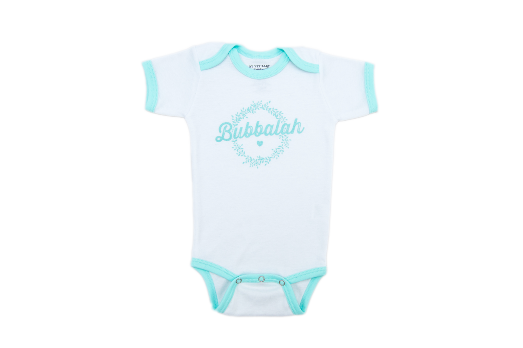"NEW!!! ""Bubbalah"" Mint Ringer Onesie"