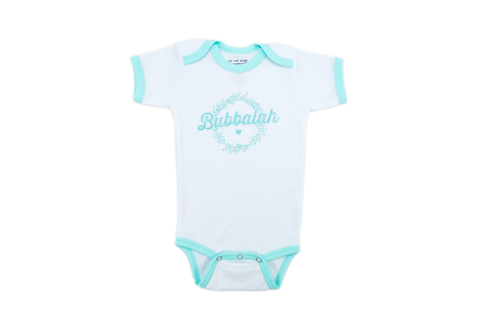 Bubbalah Mint Green Ringer Onesie