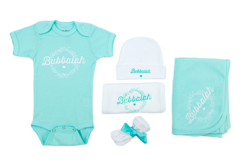 "Bubbalah Solid Mint Green ""Baby Basics"" set"