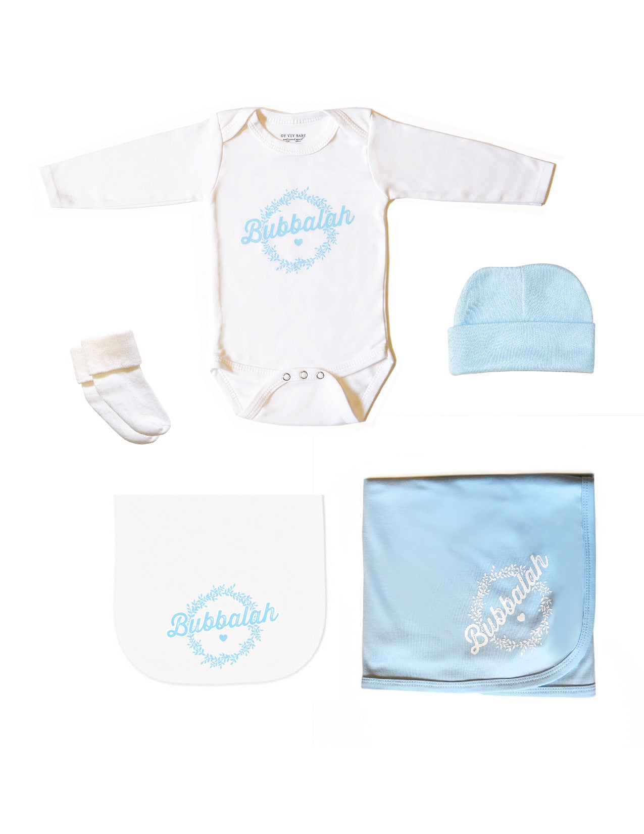 "Bubbalah Sky Blue ""Half & Half"" Set"