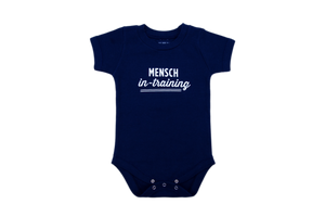 NEW!!! Mensch-in-Training Navy Blue Onesie