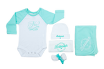 Nu? Mint Green Raglan Sleeve Onesie Set