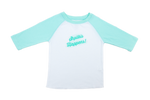 Shpilkis Happens  2T Mint Green Raglan Sleeve Baseball Shirt