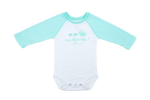We are Mishpocha Mint Green Raglan Sleeve Onesie