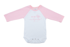 "NEW!! ""We are Mispocha"" Rose Petal Raglan Sleeve Onesie"