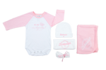 We are Mishpocha Rose Petal Onesie Set