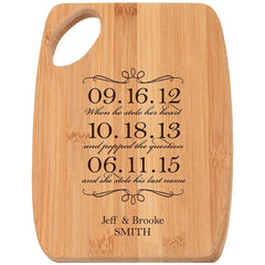 cutting boards to celebrate anniversary