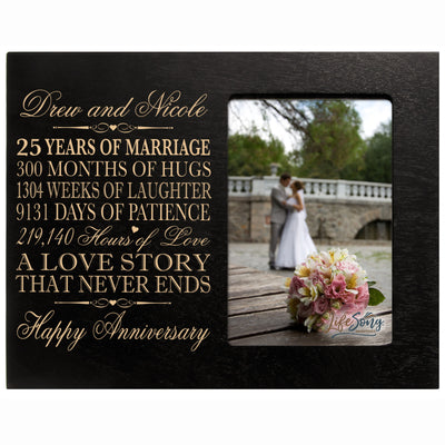 Personalized twenty five year anniversary wedding gift