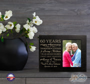Personalized Sixtieth year anniversary wedding gift photo frame