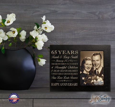 Personalized 65th year anniversary gift