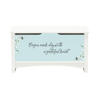Inspirational Room Organizer Toy Blanket Storage Chest Box - (FAMILY) (NP)