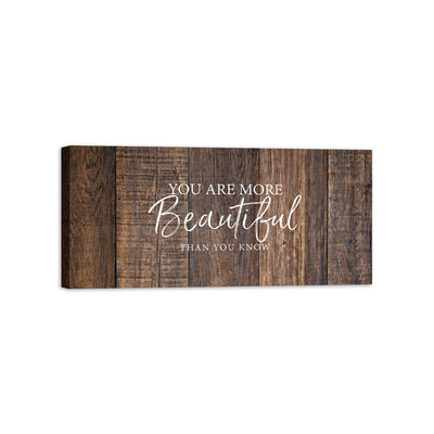 "Every Love Story is Beautiful Inspirational Canvas Wall Art Framed Modern Wall Decor Decorative Accents For Walls Ready to Hang for Home Living Room Bedroom Entryway Kitchen Office Size 16"" x 5.5"""